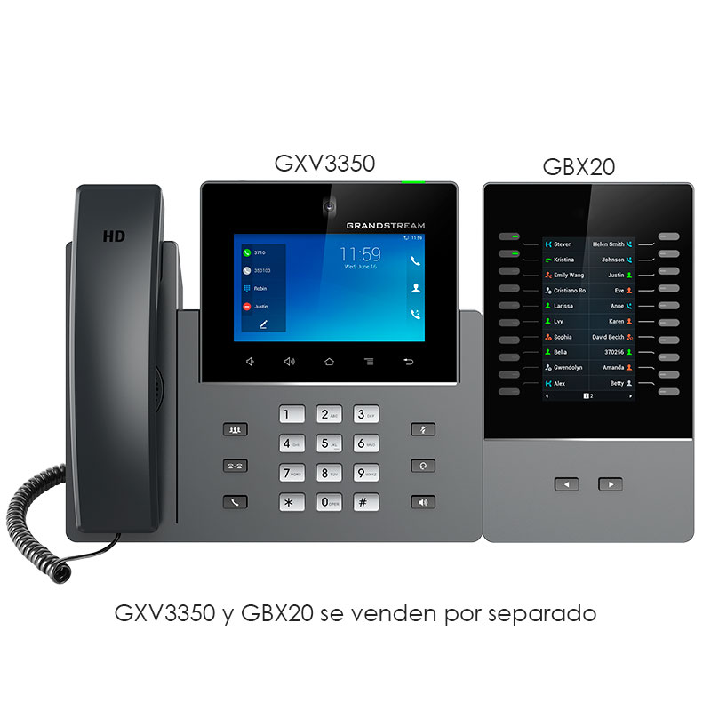 GXV3350, Video-Teléfono IP Multimedia ANDROID 7""