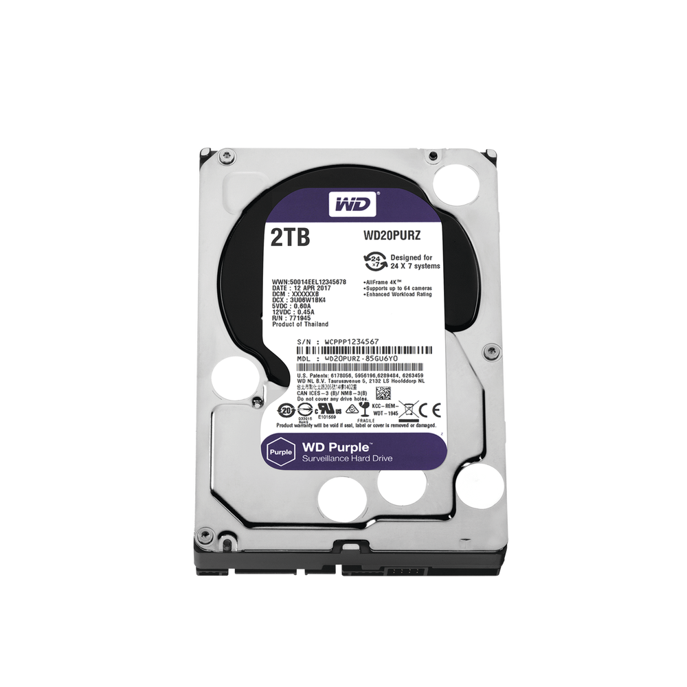 WD20PURZ, Disco duro 2TB para video vigilancia