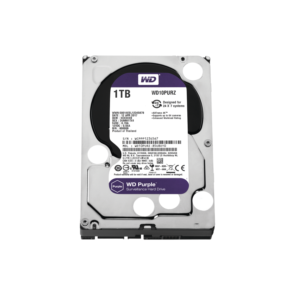 WD10PURZ, Disco duro 1TB para video vigilancia