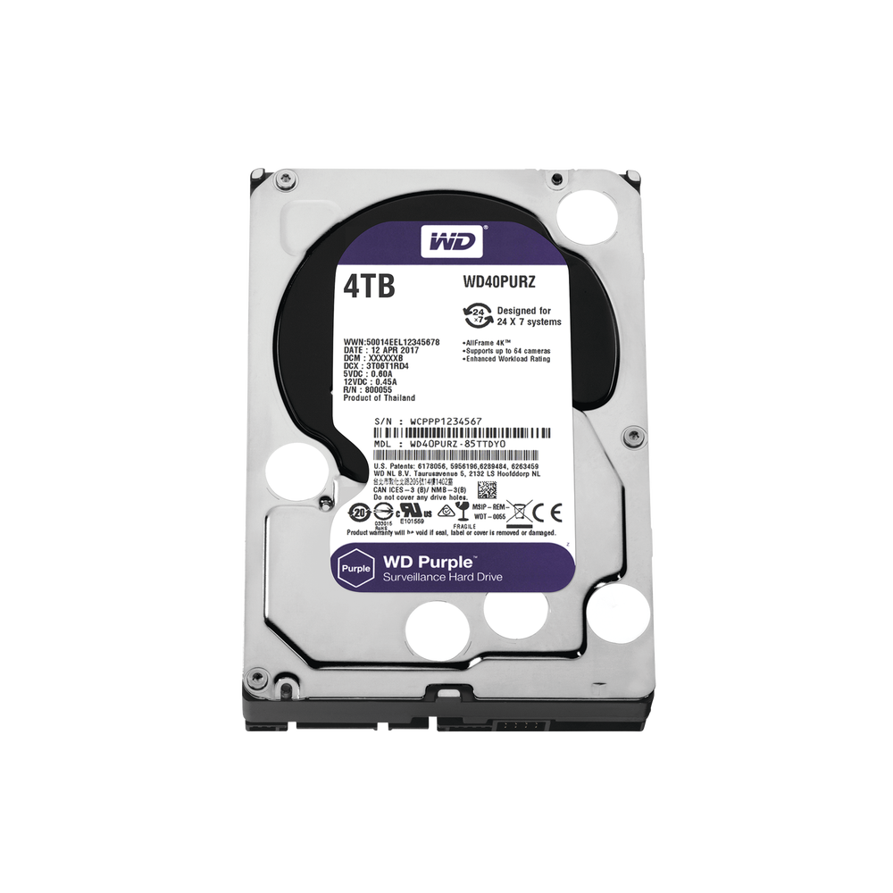 WD40PURZ, Disco duro 4TB para video vigilancia