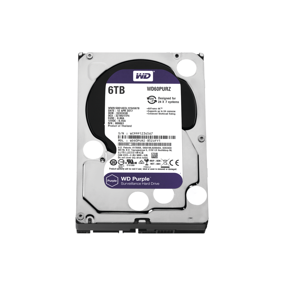 WD60PURZ, Disco duro 6TB para video vigilancia