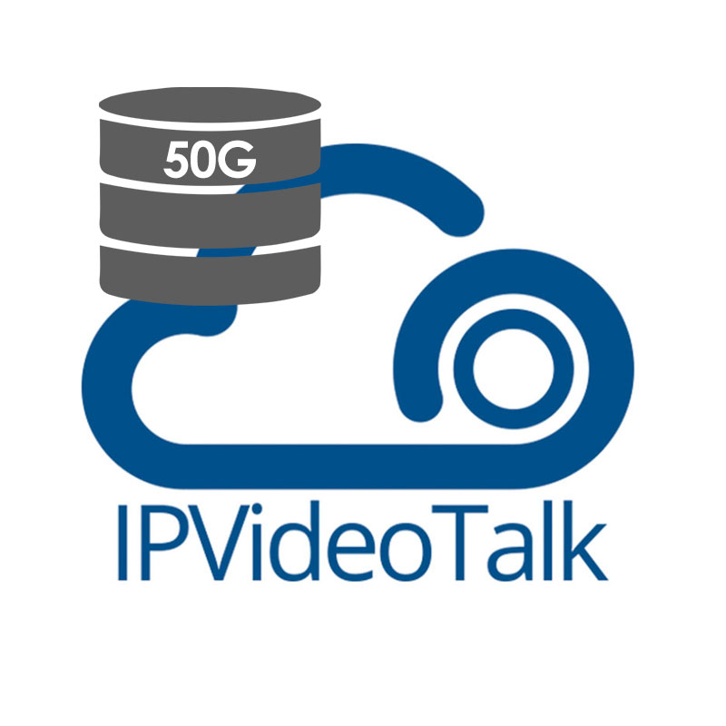 IPVideoTalk Storage Add-On, Expande capacidad de grabación a 50GB