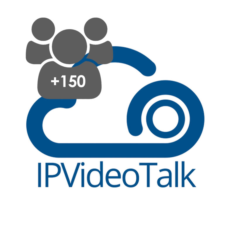 IPVideoTalk 150-Party Add-On, Expande a +150 participantes, para todos los planes