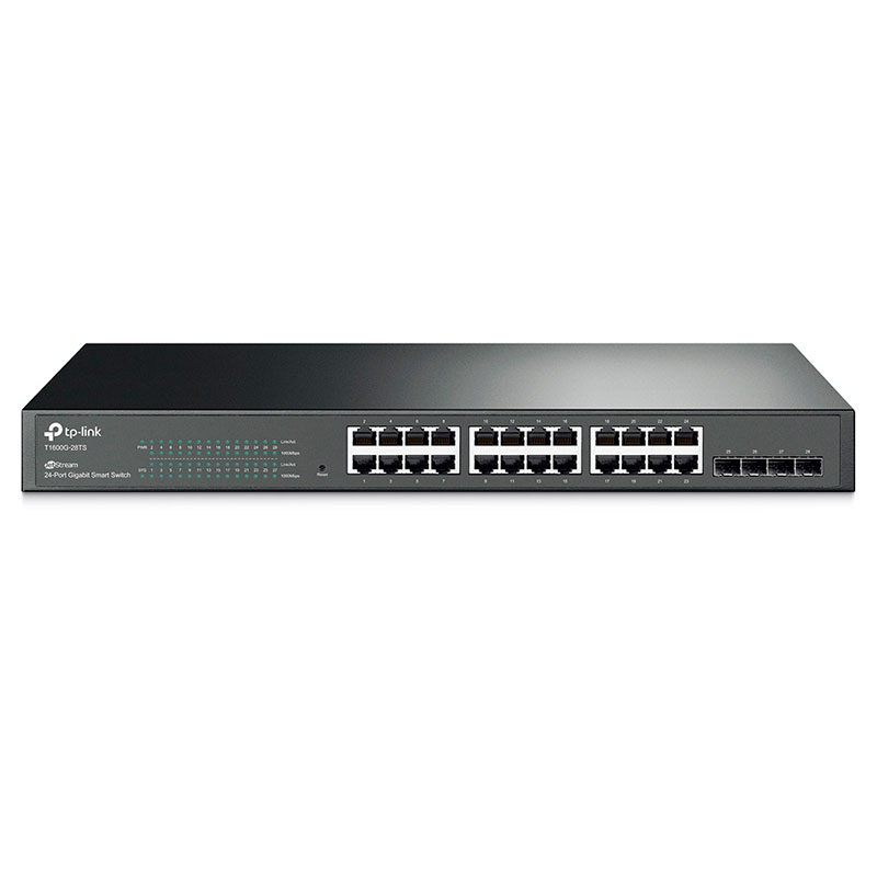T1600G-28TS, Switch Inteligente, 24 Puertos Gigabit
