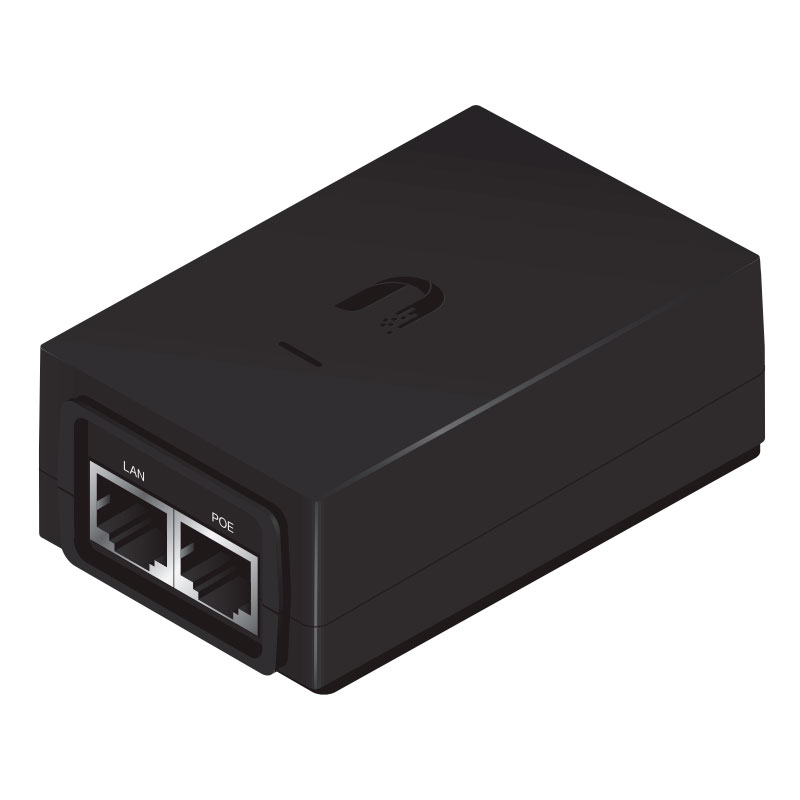 POE-48-24W-G, Adaptador POE Gigabit 48 Volts 24 Watts (0.5A)