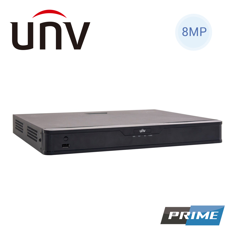NVR302-8S-P8, 8MP 8CH/8 PoE, hasta 2 HD/20TB, 1 salida HDMI 4K y 1 VGA, PoE 300m, analiticas