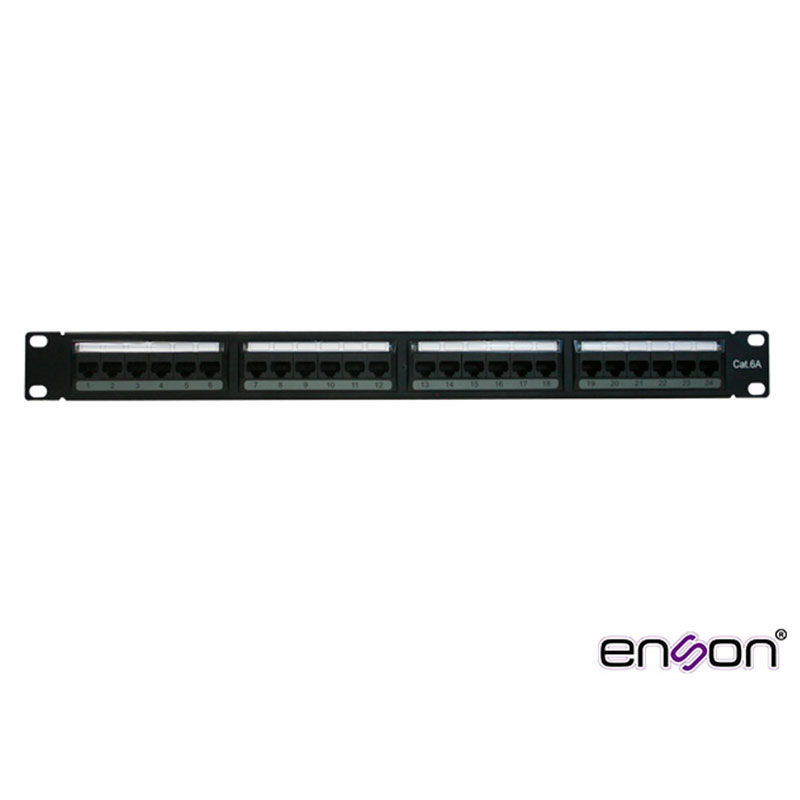 ENS-PA24P6, Panel de parcheo remate 110 y 24 Jacks cat 6