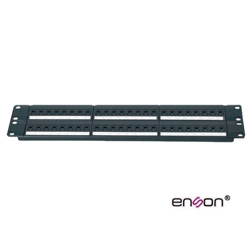 ENS-PA48P7, Panel de parcheo para remate en regletas 110 y 48 jacks Cat 6