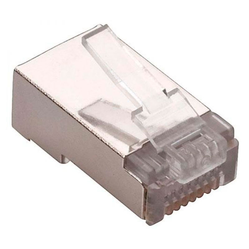 301-188, Plug RJ45 CAT.5E Blindado de 8 contactos, para cable FTP